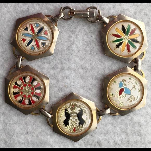 Antique Jewelry - Antique charm bracelet
